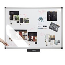 Electrostatic Whiteboard with Clear View Overlay
