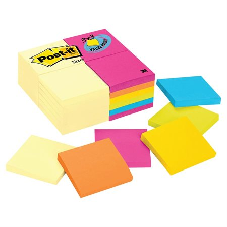 Feuillets autoadhésifs valeur Post-it®